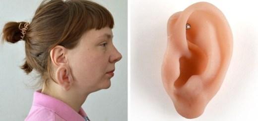 Creepy anatomical Jewelry makes a Earring look like human ears. Take a look and believe yourself