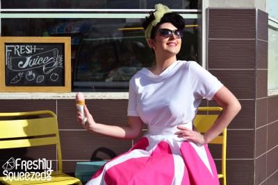 Pink Grapefruit Fizz Full Skirt | Devel Women