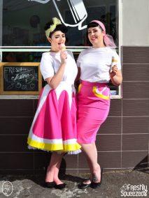 Pink Grapefruit Fizz Swing and Wiggle Skirts | Devel Women