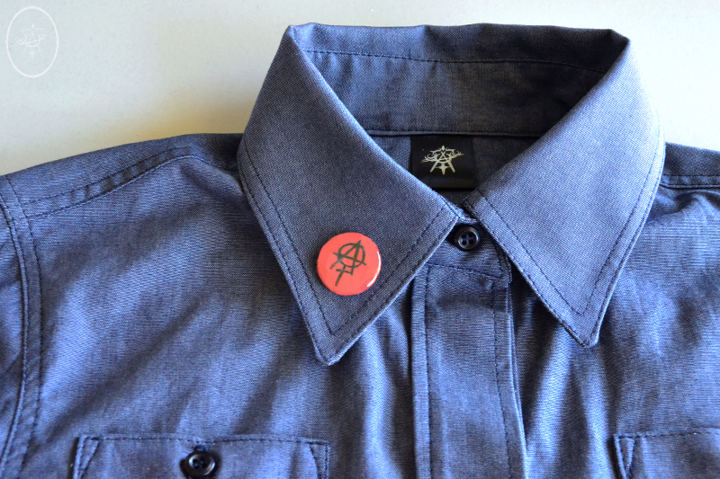 Rosie Shirt with Feminist Punk Lapel Pin