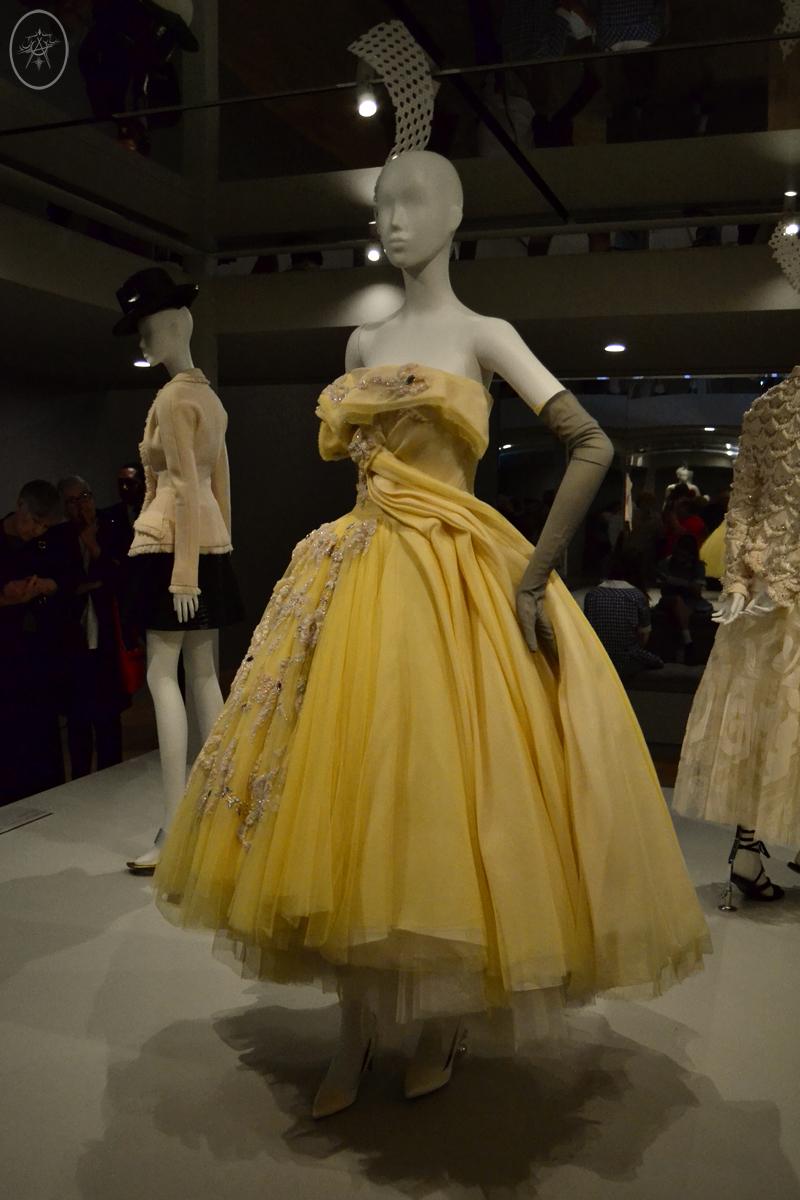 Lemon tulle full-skirt cocktail dress by John Galliano for Dior, at NGV International, Meblourne, Australia