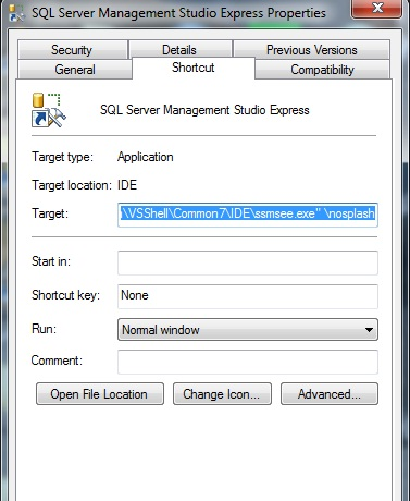 How to Suppress Splash Screen in Visual Studio and SSMS ?