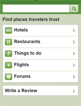 TripAdvisor App for Windows Phone