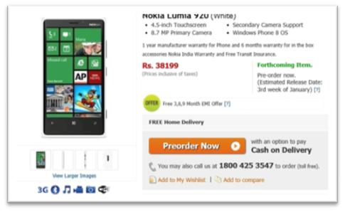 Nokia Lumia 920 and Lumia 820 available in India