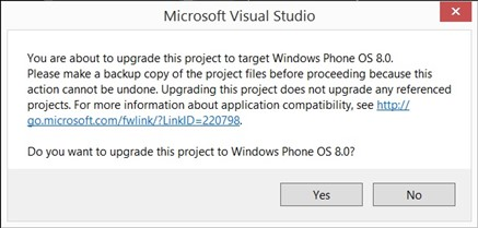 How to Upgrade a Windows Phone 7.x App to Windows Phone 8 in Visual Studio 2012?