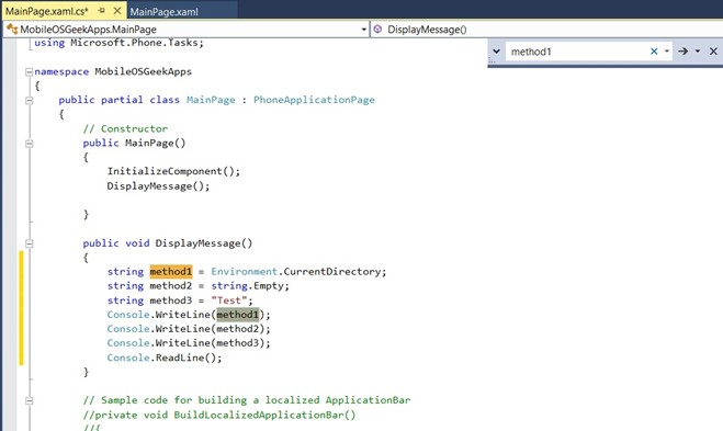 Visual Studio 2013 Tips & Tricks - Incremental search