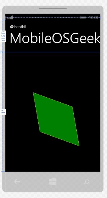Different Transforms in XAML and Windows Phone