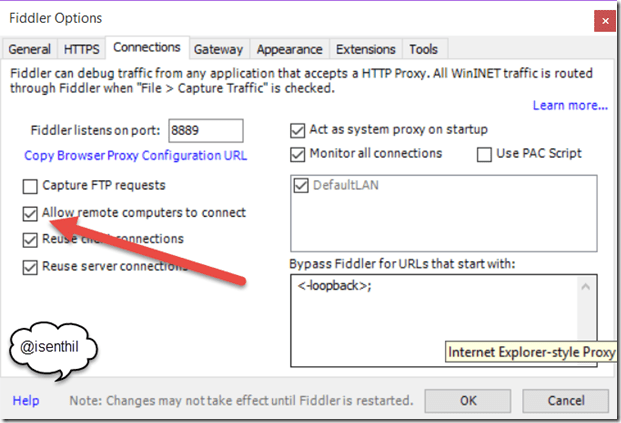 Capture Windows Mobile 10 Network Traffic with Fiddler