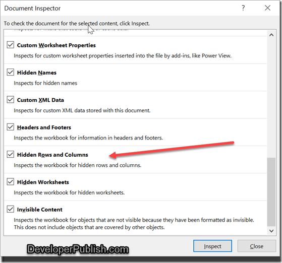 delete hidden rows and columns in excel