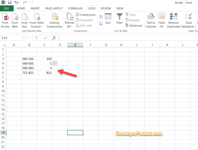Using Flash Fill tricks in excel