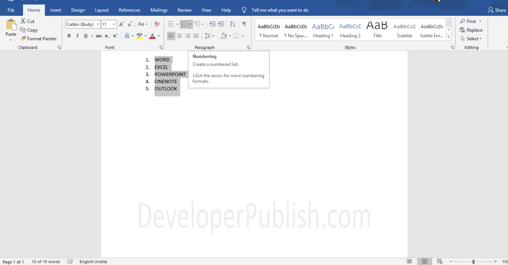 How to Create a Bulleted or Numbered List in Word?