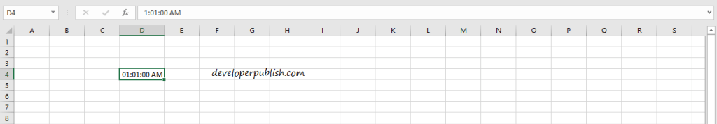 Date and Time Formats in Excel