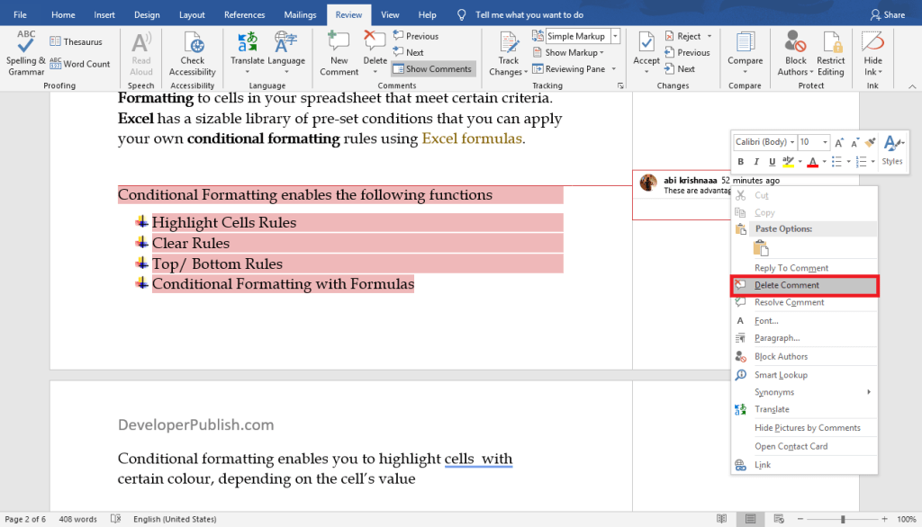 How to Insert a Comment in Word?