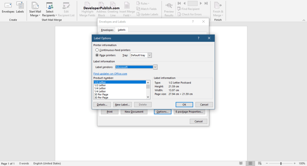 How to Create and Print Labels in Word?