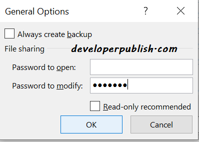 Mark Workbook as Read-only in Microsoft Excel