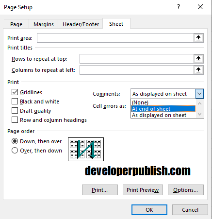 How to Print comments in Excel?