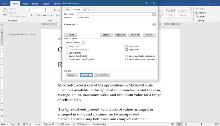 How to Split Two paragraphs from One in Word?