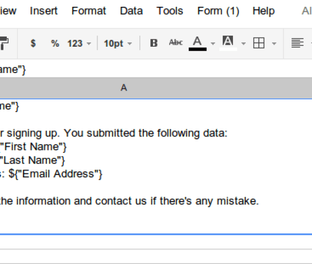 Note The Four Template Markers Like First Name They Correspond To Column Names In The Data Sheet And Specify Where The Data From A Given Row Should