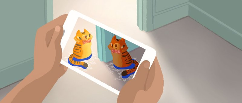 Google ARCore augmented reality kittens