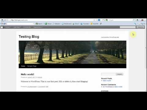 Web master training on How to install WordPress Manually