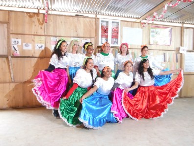 Peru D Participants dressed up in traditional Peruvian clothing to celebrate Peruvian Independence Day with the community of Hijos de 28 de julio
