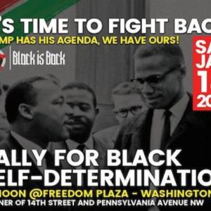 Celebrate Dr. Martin Luther King Jr.'s birthday with a Rally for Self-determination!