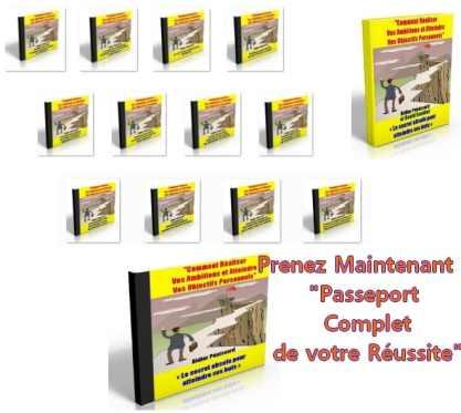 Programme complet de motivation personnel pour réussir votre vie Passeport pour la réussite