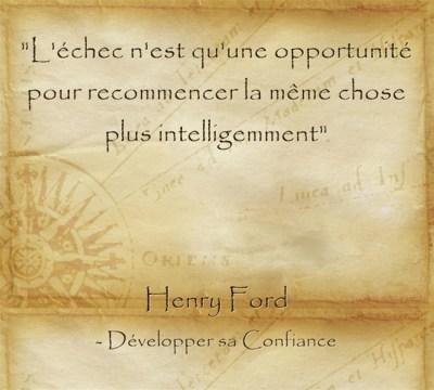 échec opportunité persévérer
