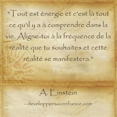 Citation d'Albert Einstein sur la loi de l'attraction