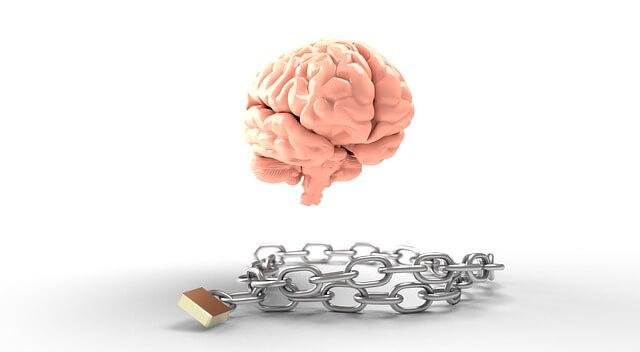 Image symbole de l'évolution de l'esprit du changement d'état mental