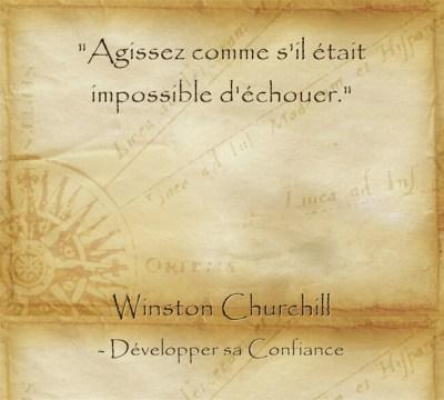 Citation de Churchill pour avoir le courage d'oser se lancer
