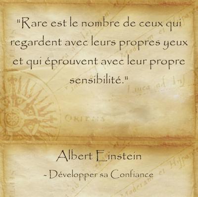 Citation d'Albert Einstein pour oser penser par soi même