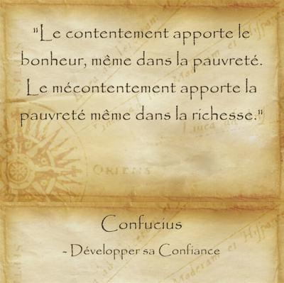 Citation de sagesse de Confucius pour relativiser la richesse