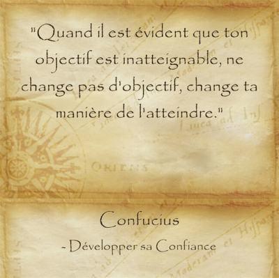 Citation de raison de Confucius pour continuer