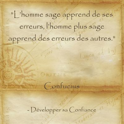 Citation de sagesse de Confucius pour apprendre de son échec