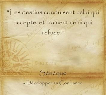 citation de Sénèque sur la destinée
