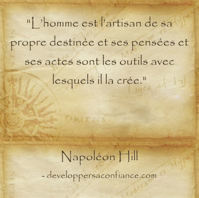 citation de Napoleon Hill comme quoi tout est possible