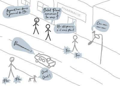 Schéma dans la rue hyperesthésie auditive