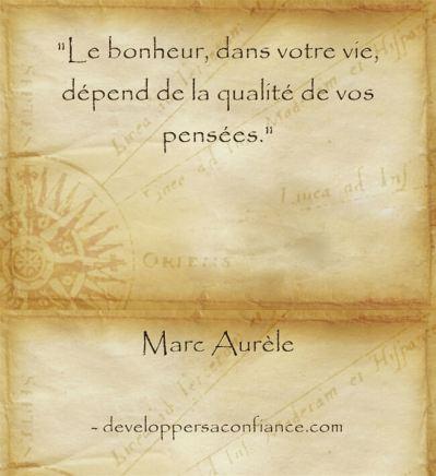 Citation de Marc Aurèle que l'importance du mental sur le bonheur