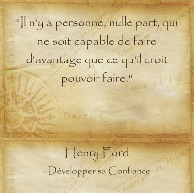 Réfelxion d'Henry Ford sur le potentiel inné de chaque personne