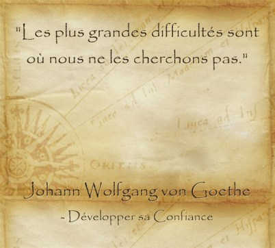 Citation de Goethe sur l'inattendu