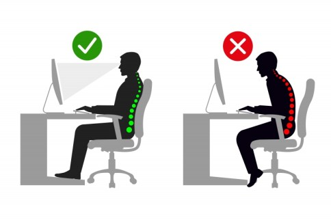 illustration position de travaille