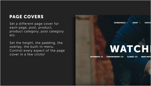 Versatile page covers with many options