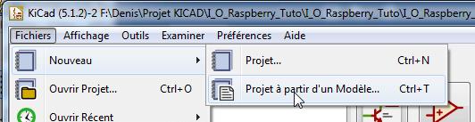 Réalisation schéma électronique Kicad.