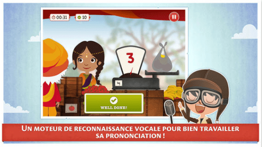 Appli Pili Pop - application anglais