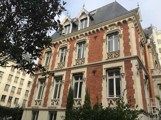 Batiment de l'International School of Paris rue Cortambert