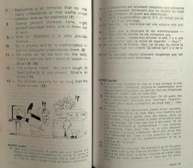 Photo d'une page de la méthode Assimil Anglais