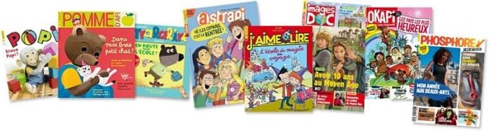Couverture de magazines pour enfant Bayard-Milan