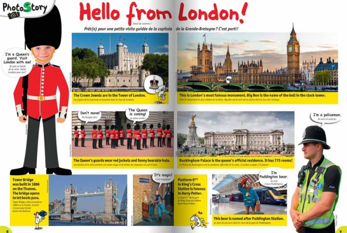 Hello from London - extrait du magazine I Love English Kids
