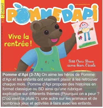 Pomme d'Api un magazine pour les 3-7 ans